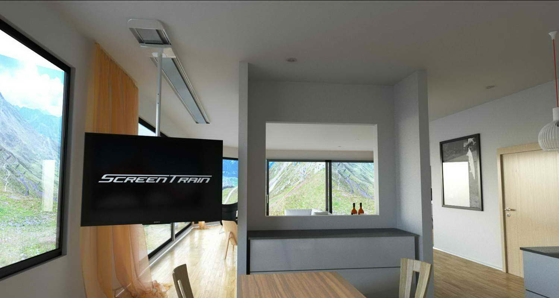 screentrain tv halterung ab 47 bis 75 zoll screentrain. Black Bedroom Furniture Sets. Home Design Ideas